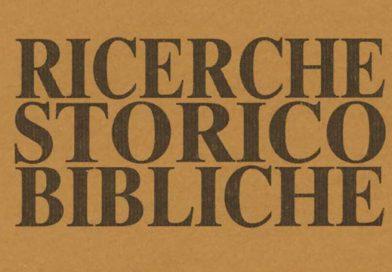 RICERCHE STORICO BIBLICHE – n. 2/2021